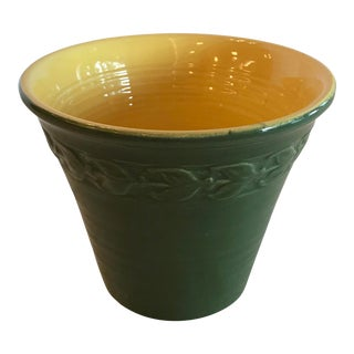 Modern Green & Yellow Planter For Sale