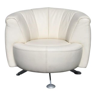 De Sede White Leather Armchair For Sale