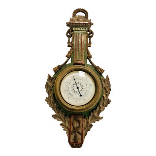 Giltwood French Style Palladio Barometer For Sale