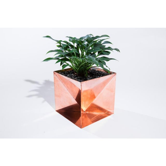 """Origami Planter - Copper 20"""" For Sale In Washington DC - Image 6 of 6"""