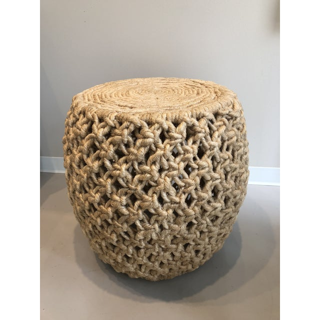 2010s Made Goods Angela Natural Abaca Rope Side Table For Sale - Image 5 of 5