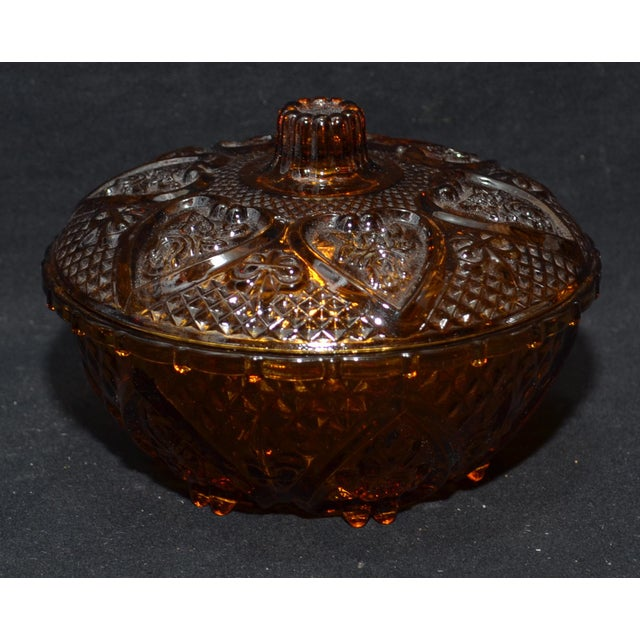 Anchor Hocking Renaissance Amber Glass Covered Dish - Image 3 of 7