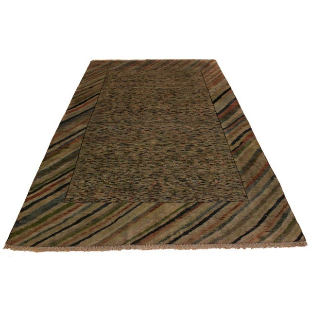 Overdyed Color Reform Glory Gray/Rust Area Rug - 4'7 X 6'4 For Sale - Image 4 of 8