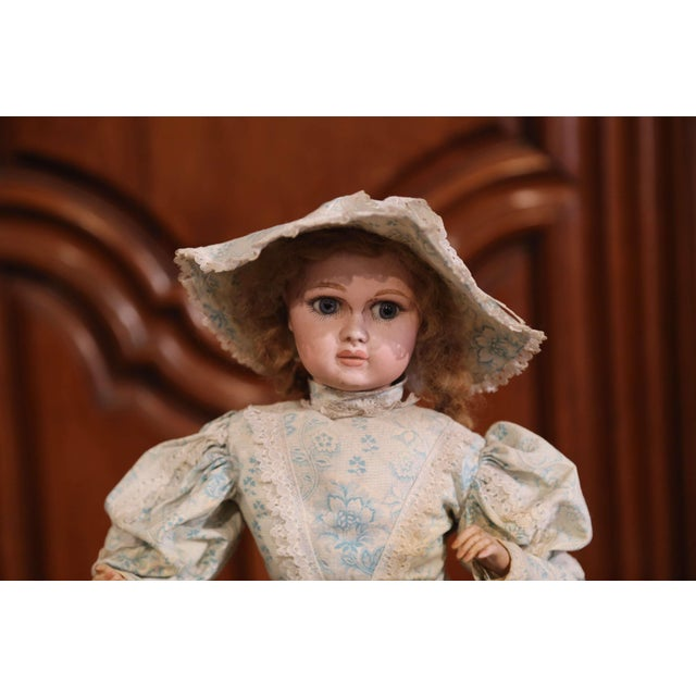 Late 19th Century Tall 19th Century French Porcelain Musical Automaton Jumeau Doll For Sale - Image 5 of 8