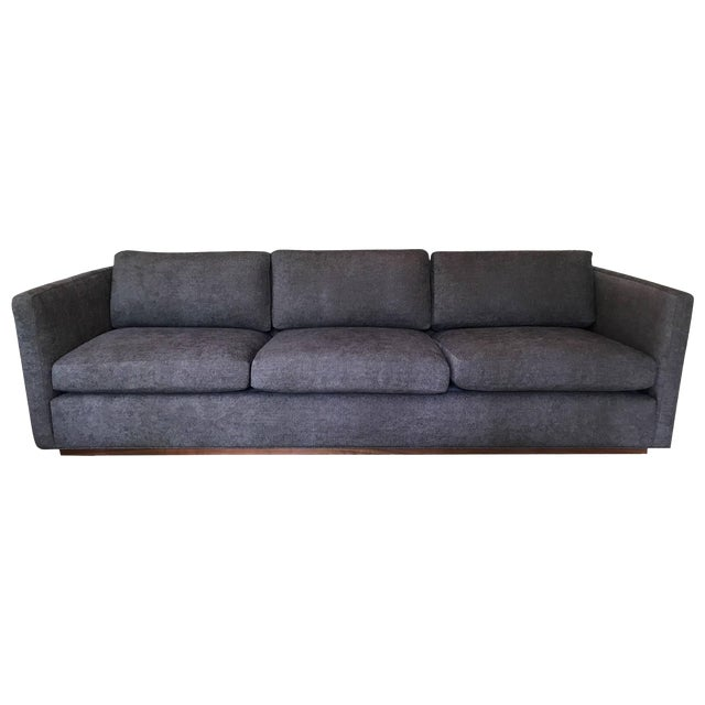 Milo Baughman for Thayer Coggin Tuxedo Sofa For Sale