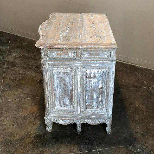 19th Century French Regence Whitewashed Commode For Sale - Image 4 of 13