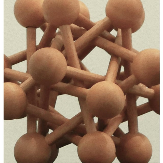 1970s Mid-Century Wood Atomic Model For Sale - Image 5 of 6