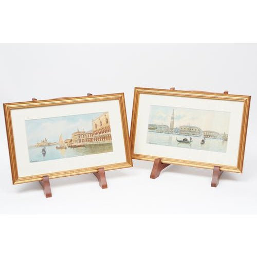 These two newly framed watercolors are different views of Venice, Italy. They are signed and in very good condition....