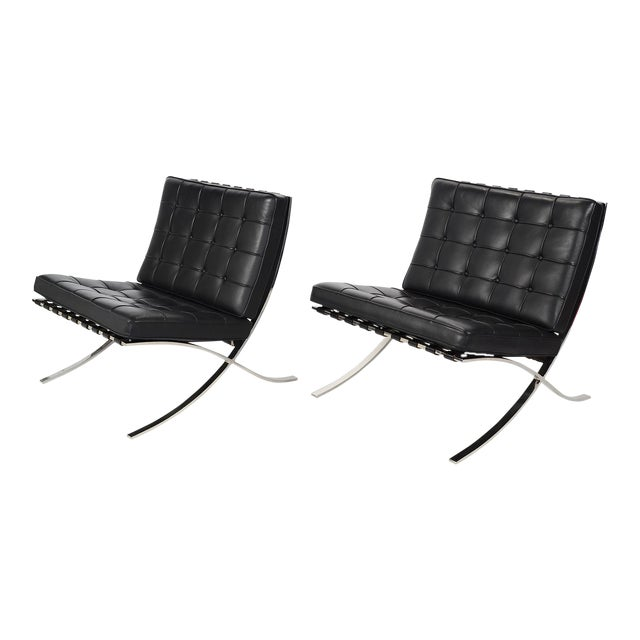 Ludwig Mies van der Rohe Barcelona Chairs by Knoll For Sale