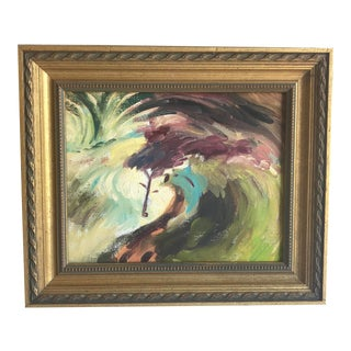Vintage Abstract Painting by Ruth Harvey For Sale