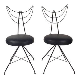 Pair of Angel Side Chairs For Sale