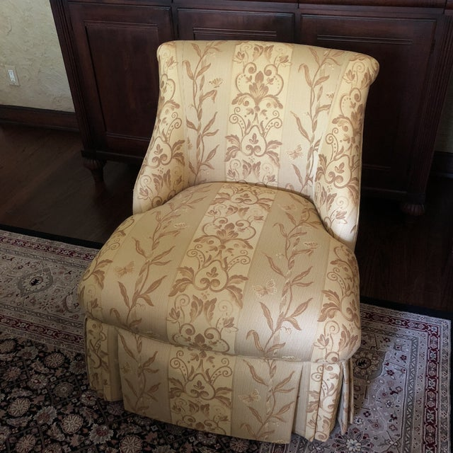 Traditional Pearson Gold Slipper Chair For Sale - Image 10 of 10