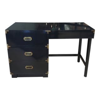 1950s Campaign Dixie Lacquered Writing Desk For Sale