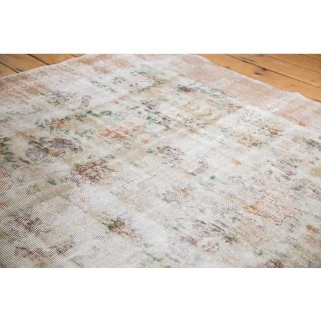 Super distressed vintage Oushak carpet. Lots of exposed foundation with an abstract style make for an AWESOME carpet!...