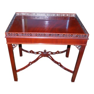 Traditional Winterthur Townsend Tea Table For Sale