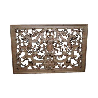 Outstanding Carved Wood Hanging Rococo Style Wall Plaque (C) For Sale
