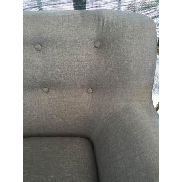 Light Gray Midcentury Loveseat For Sale - Image 4 of 6
