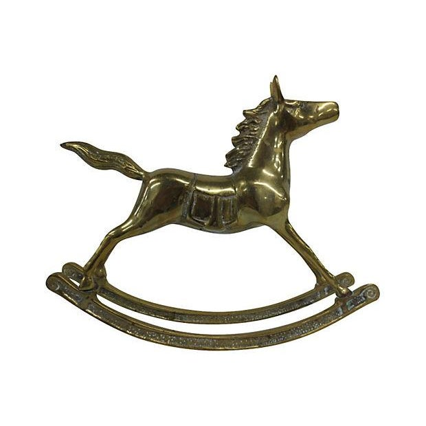 Large Brass Rocking Horse - Image 3 of 5