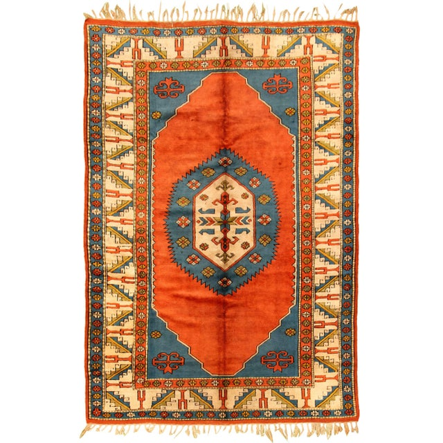 Hand-Knotted Turkish Rug For Sale - Image 9 of 9