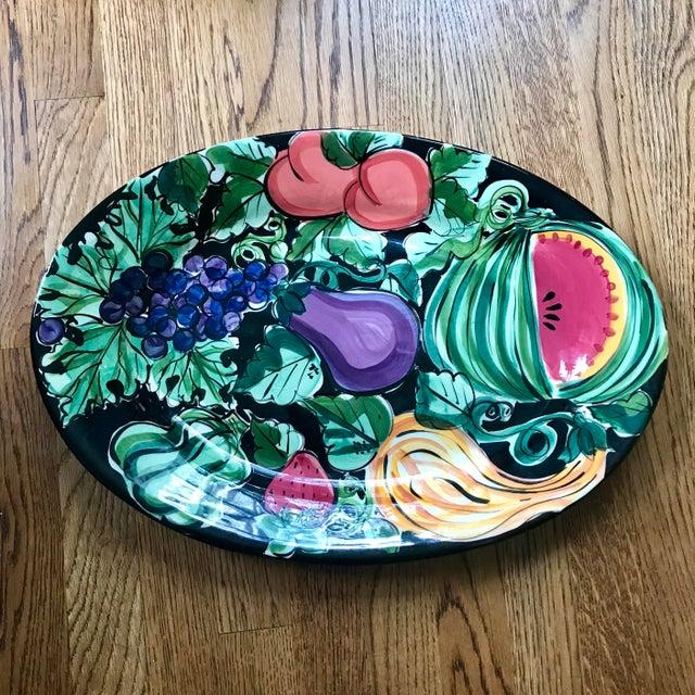 "Vicki Carroll Studio ""Bon Appetite"" Oval Serving Platter For Sale In Nashville - Image 6 of 6"