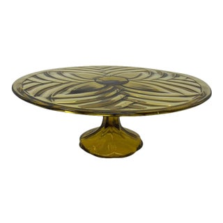 Olive Glass Patisserie Stand For Sale
