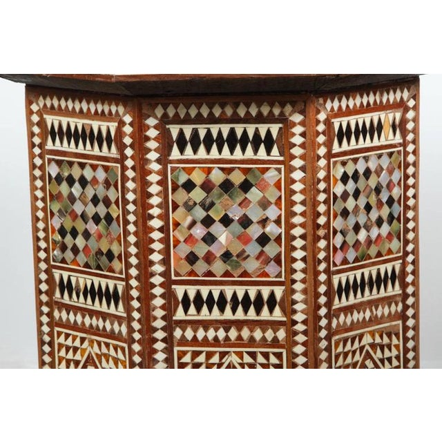 Islamic Syrian Octagonal Table Inlay with Mother-Of-Pearl For Sale - Image 3 of 7
