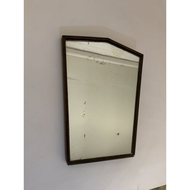 Wood 1930s Oak English Art Deco Table Top Mirror For Sale - Image 7 of 10