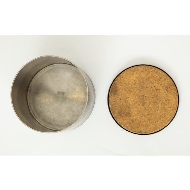 1970s Hammered Steel Canister by Philolaos For Sale - Image 5 of 8