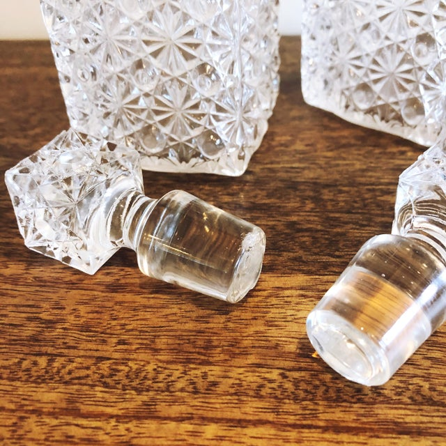 Glass Glass Decanters, Set of 2 For Sale - Image 7 of 8