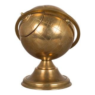Mid-Century Brass Globe Cigarette Holder C. 1960s
