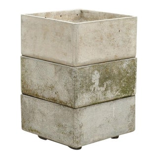 Stackable Fiber Concrete Planter by Eternit Sa, Switzerland, 1960s For Sale