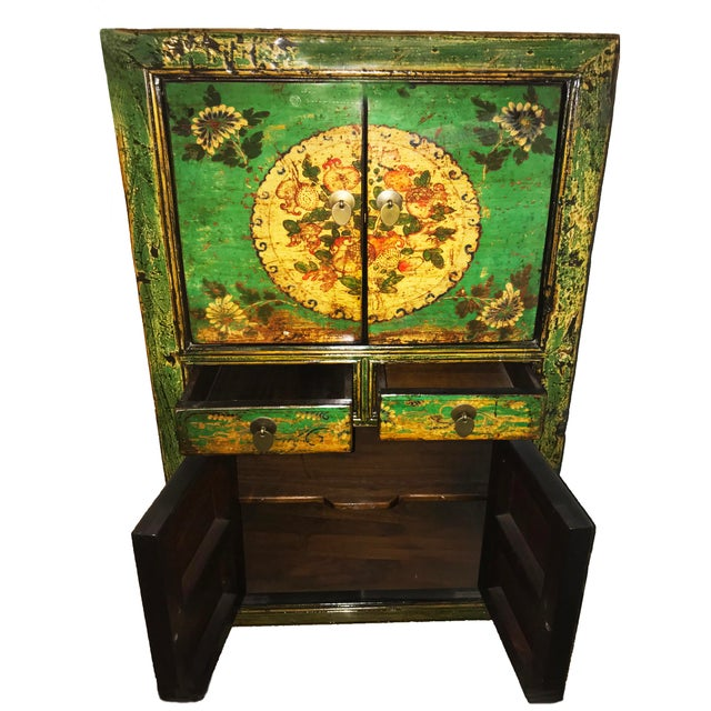 Asian 20th Century Chinese Scholars' Cabinet Armoire For Sale - Image 3 of 4