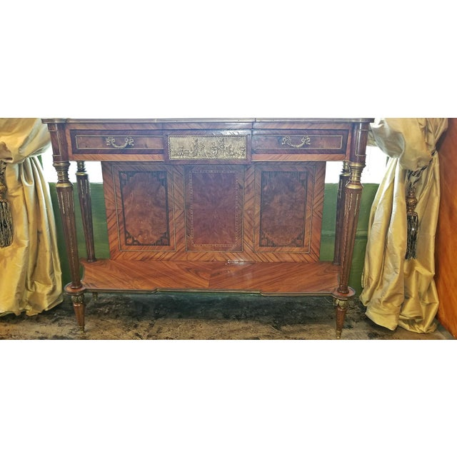 Louis XVI 19c French Breakfast Console Buffet For Sale - Image 3 of 13