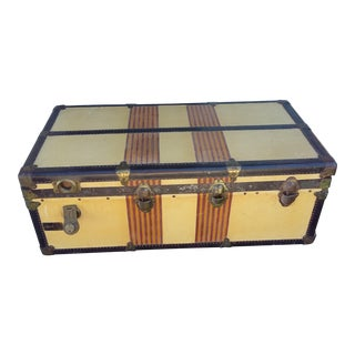 "1930s Americana Abercrombie & Fitch Oshkosh ""The Chief "" Steamer Trunk For Sale"
