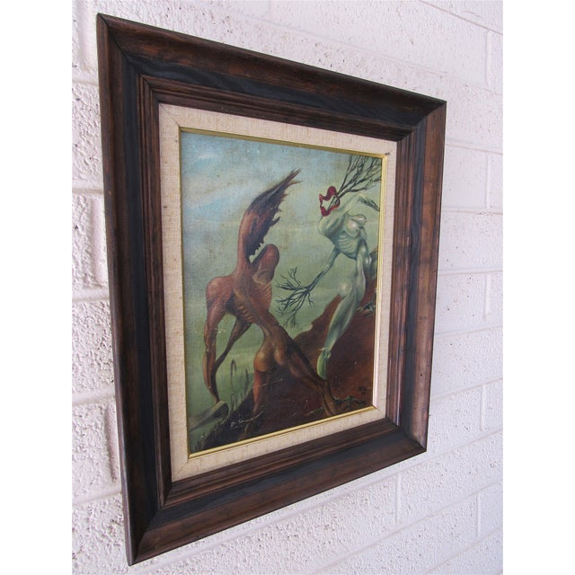 1930s Rare Abstract by Harold A. Laynor 1939 Acrylic on Masonite. For Sale - Image 5 of 8