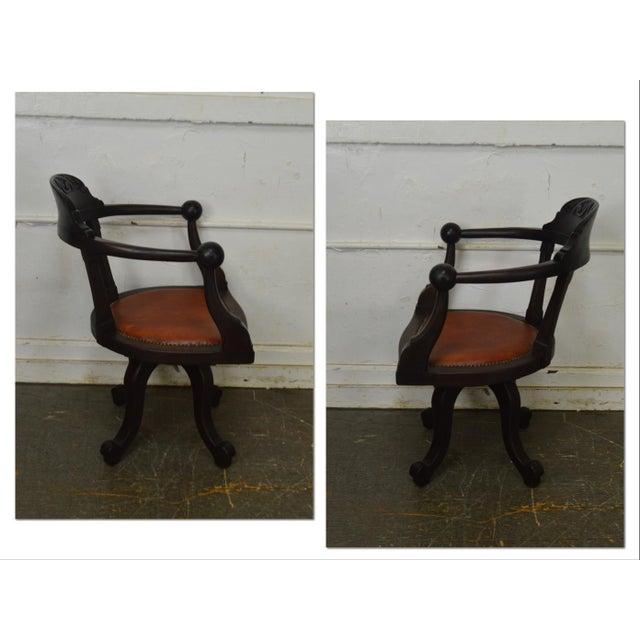 *STORE ITEM #: 18462-fwmr Victorian Antique Mahogany Swivel Desk Chair AGE / ORIGIN: Approx. 150 years, America DETAILS /...