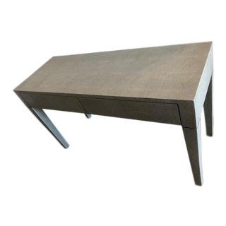 Modern Made Goods Light Gray Faux Shagreen Desk For Sale