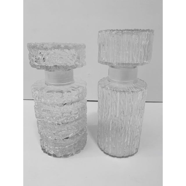 Brutalist Glass Decanters - a Pair For Sale - Image 11 of 11