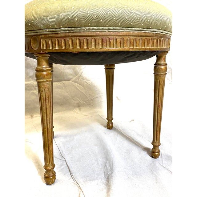 Late 19th Century Rare Antique Set of 6 French Dining Chairs Balloon Back Silk Cushions Fabulous For Sale - Image 5 of 11