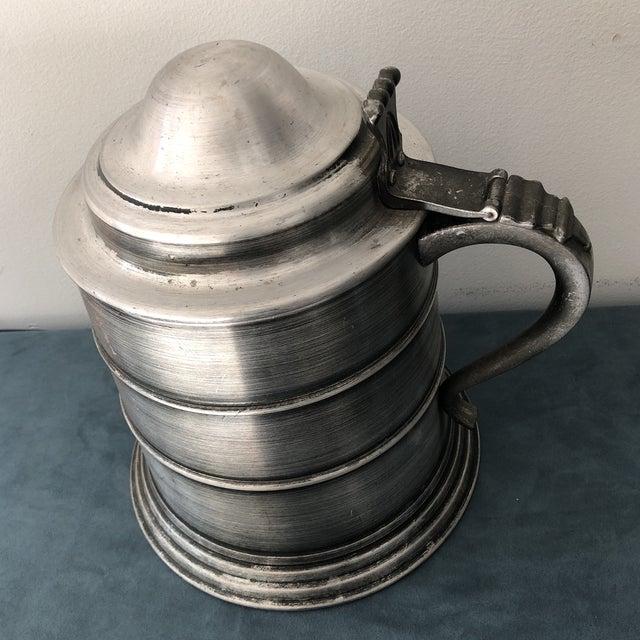 Italian Vintage Italian Pewter Beer Mug Ice Bucket For Sale - Image 3 of 7