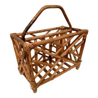 Bamboo Fretwork Magazine Holder For Sale