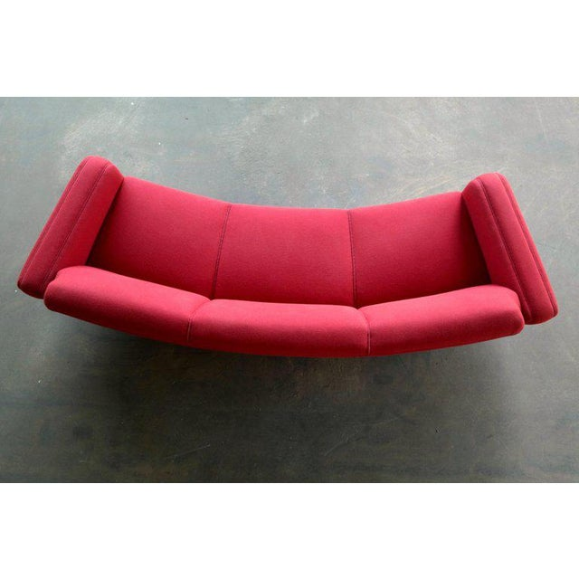 Large Danish 1960s Illum Wikkelso for Aarhus Model 450 Curved Sofas - a Pair For Sale - Image 12 of 13