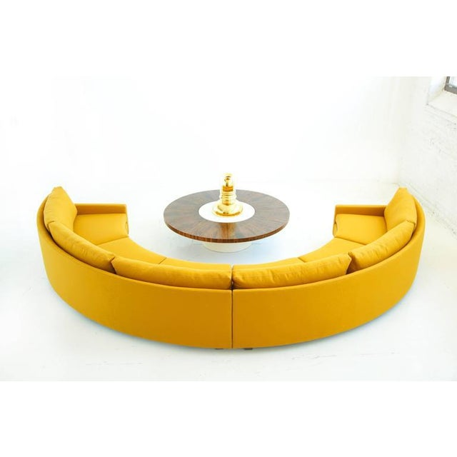 Milo Baughman Semi-Circle Sectional Sofa For Sale In New York - Image 6 of 10