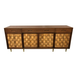 1950s Edward Wormley for Dunbar Woven Door Credenza/Server For Sale