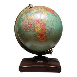 Mid-Century Illuminated Glass Globe c. 1940-1950s