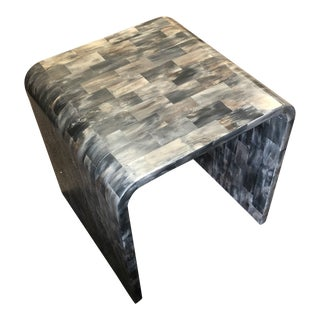 Contemporary Brownstone Hayden End Table For Sale