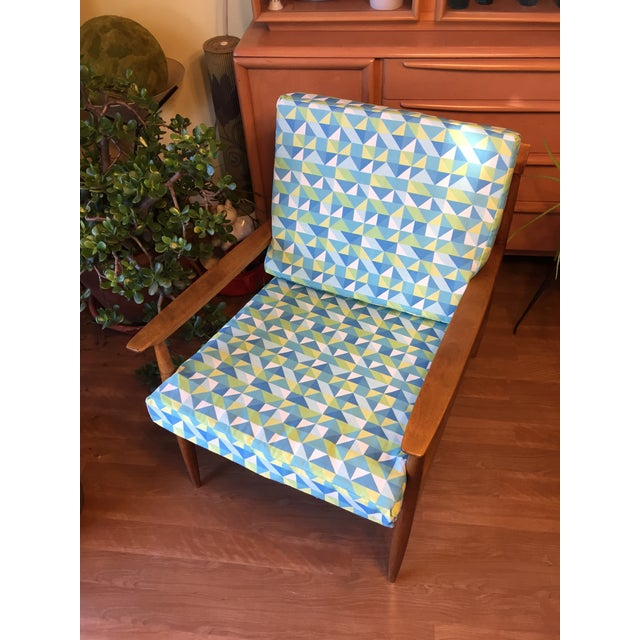 Metal Knoll Antimott Lounge Chair For Sale - Image 7 of 13