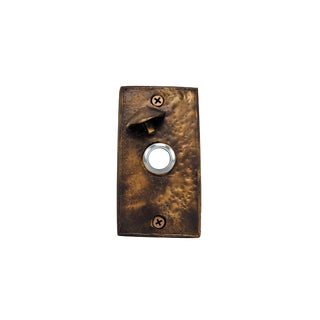 Rectangle Toadstool Doorbell with Traditional Patina For Sale