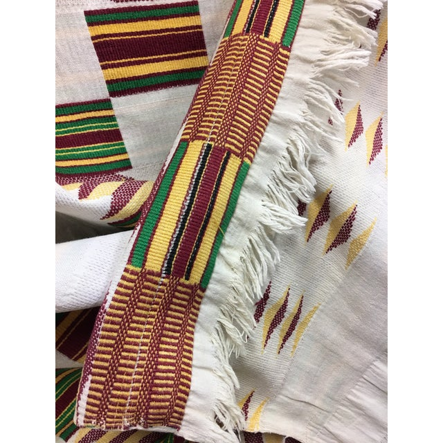 """African Tribal Vintage Textile Throw - 41"""" x 79"""" - Image 10 of 11"""