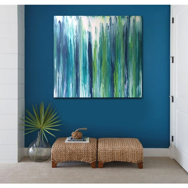 Contemporary 'Waterfall' Abstract Painting by Linnea Heide For Sale - Image 3 of 7